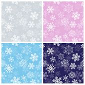Snowflakes seamless pattern for Christmas od winter decorations