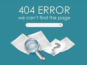 pic of not found  - 404 Page not found vector - JPG