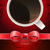 Greeting Card With Coffee Cup (place For Your Text)