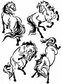 Set Of Horse Tattoo