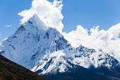 Mountains Ama Dablam, Himalaya Landscape