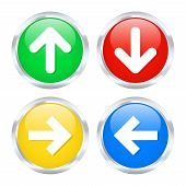 Arrow Buttons. Vector Illustration
