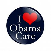 I Love Obamacare Button