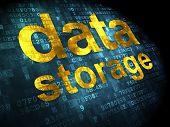 Data concept: Data Storage on digital background