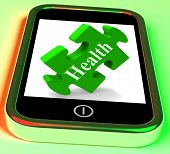 Health Smartphone Means Looking After Yourself And Wellbeing