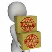 Sale Boxes Show Reduced Price And Big Savings