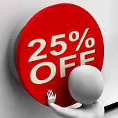 Twenty-five Percent Off Shows 25 Price Reduction