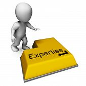 Expertise Key Shows Specialist Knowledge And Proficiency