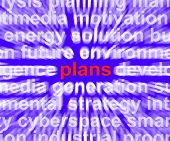 Plans Word Means Objectives Agenda And Organising