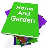 Home And Garden Book Stack Shows Books On Household Gardening