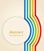 Background curved colored stripes