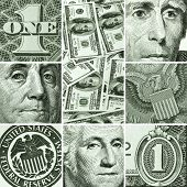 Finance concept backgrounds.  Macro set from USA dollars