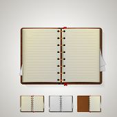 Illustration of notebooks
