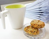 Coffee Cup With Cookie For Break