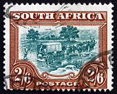 Postage Stamp South Africa 1945 Trekking, Journey By Ox Wagon