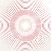 Abstract retro circle background