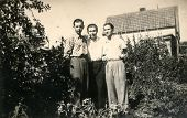 GERMANY, CIRCA 1940's: Vintage photo of men