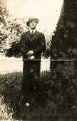 GERMANY, CIRCA 1940's: Vintage photo of man