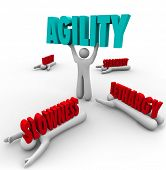 Person Lifting Agility Word Fast Action Change Adapting