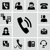 foto of telephone operator  - Phone calling icons  - JPG