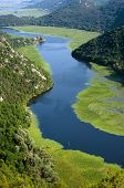Crnojevica River flowing into Lake Skadar National Park, Montenegro