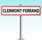 Vector Clermont-ferrand Signpost