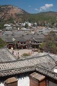 Top View Of Historic Town Lijiang Dayan Old Town.