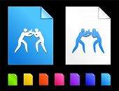 Boxing Icons on Colorful Paper Document Collection