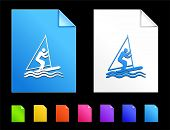 Sailboat Icons on Colorful Paper Document Collection