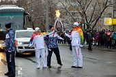 Olympic Flame In Tomsk