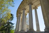 Colonnade in the Retiro Park in Madrid