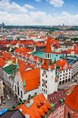 City view of Munich, Old Town Hall (Altes Rathaus)