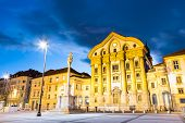 stock photo of church  - Ursuline Church of the Holy Trinity also Nun Church is a parish church in Ljubljana - JPG