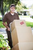 Delivery Man Or Mover Outdoors