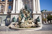 Matthias Fountain In The Buda Castle Royal Palace