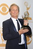 LOS ANGELES - SEP 22: Jeff Daniels in the press room during the 65th Annual Primetime Emmy Awards he