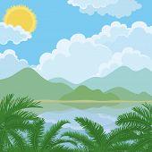 Tropical sea summer landscape