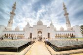 ABU DHABI, UAE - MARCH 26: Sheikh Zayed Grand Mosque in Abu Dhabi on March 26, 2014, UAE. Grang Mosq