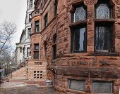 image of brownstone  - Views of classic brownstones - JPG
