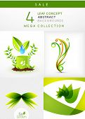 Mega collection of leaf concept nature abstract backgrounds