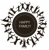 Happy young families.