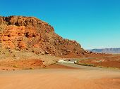 Drive Through Scenic Landscape Of Marble Canyon