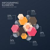 Creative Flat Hexagon Infographics Design