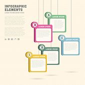 Sticky Tag Infographics Design