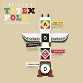 picture of indian totem pole  - modern vector abstract Indian totem pole infographic elements - JPG