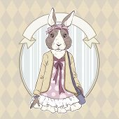 Fashion Illustration Of Rabbit