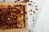 Delicious Caffeine-free Infusion Of Dried Fruit, Acai And Goji Berries And Spices.