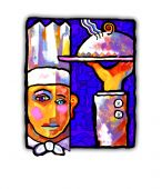 Abstract Chef Painting