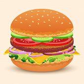 Hamburger sandwich print