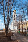 Samara, Russia - April 10, 2014: View On Belltower Of Iversky Monastery In Spring Day. Monastery Was